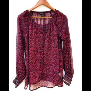 Jessica Simpson Women's Chime Top Red Cosmo XS